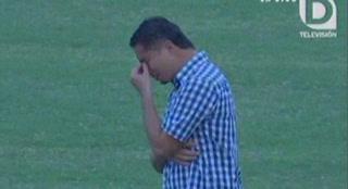 Airon Reyes rompe en llanto tras descenso de Social Sol