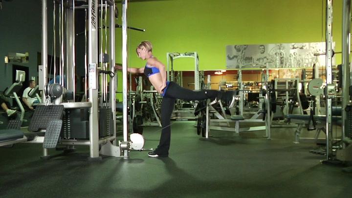 One-Leg Cable Kick-back - Leg Exercise