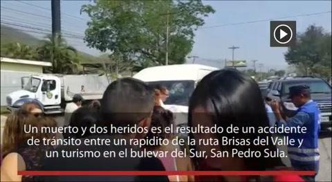Un muerto y dos heridos deja accidente en San Pedro Sula