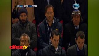 La cara de Francesco Totti con los goles del Liverpool a la Roma