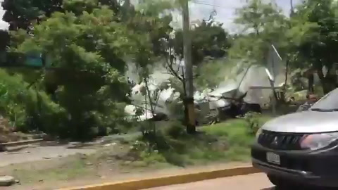 Honduras: Avión se sale de la pista del aeropuerto Toncotín
