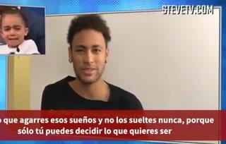 Neymar hizo llorar a niña con conmovedor mensaje en YouTube