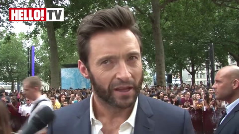 Hugh Jackman speaks to HELLO! at The Wolverine World Premiere