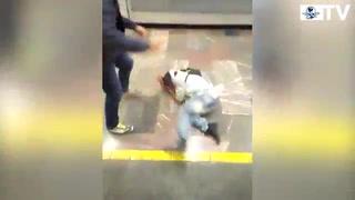 Golpean a sujeto tras insulto en el Metro