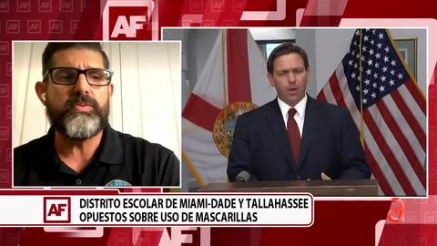 Continúa el enfrentamiento entre la junta escolar de Miami-Dade y el gobernador DeSantis por el uso de mascarillas obligatorias