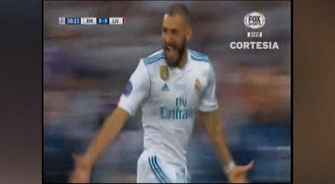 El error del portero del Liverpool que aprovechó Benzema para marcar