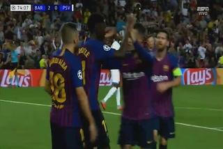 Ousmane Dembélé anota el 2 - 0 del Barcelona ante el PSV