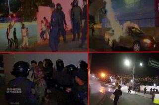 Así fue la bronca entre aficionados del Olimpia y la Policía Nacional de Honduras en las afueras del Nacional