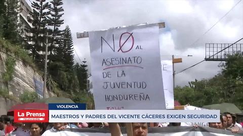 Maestros y Padres del Vicente Cáceres exigen seguridad