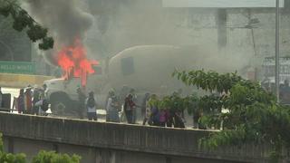 Disturbios en una nueva jornada de protestas en Venezuela