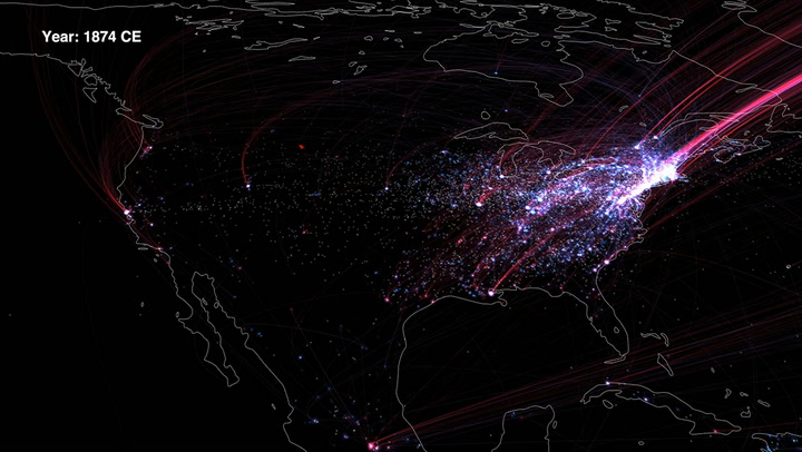 The History Of Cultural Migration, Mapped