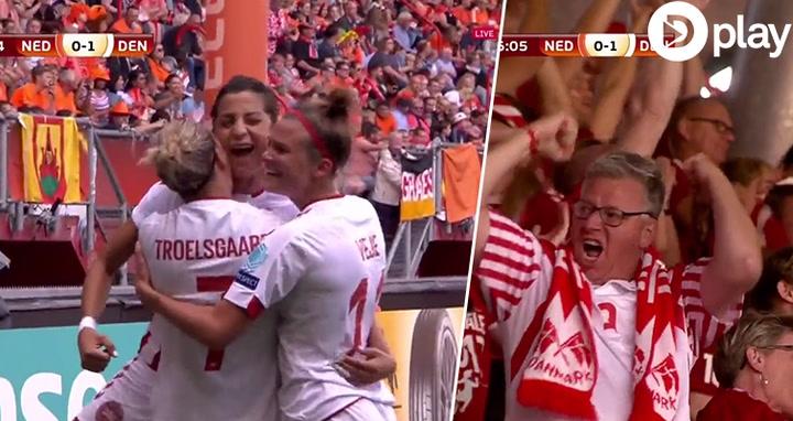Sådan - Nadia Nadim bringer sikkert Danmark foran