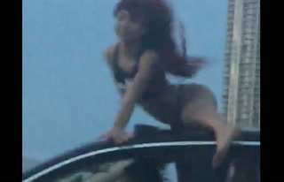 Woman Twerks on Top of Moving Car on MacArthur Causeway