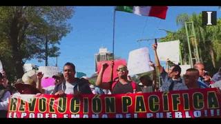 Decenas de miles de tapatíos marchan contra gasolinazo