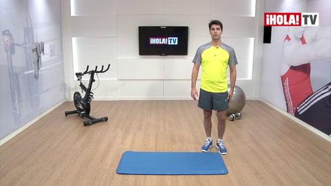 Ejercitar la parte anterior de las piernas con un fitball