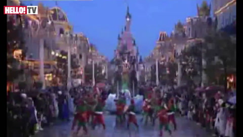 Boy band The Wanted visit Disneyland Paris to celebrate Christmas and the launch of their new album