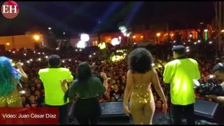 Inició la navidad en la plaza central de Comayagua