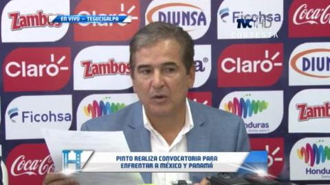 Pinto gira convocatoria para enfrentar a México y Panamá