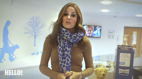 Natalie Pinkham with HELLO! training guide dogs