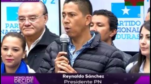 Conferencia de prensa del  presidente del Partido Nacional Reinaldo Sánchez