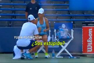 La tensa discusión de una tenista con su entrenador en pleno partido