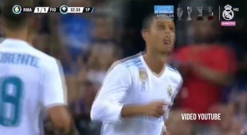 El golazo de Cristiano Ronaldo ante la Fiorentina