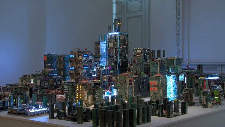 "This Dystopian Diorama Is ""1984"" Meets The Internet Of Things"