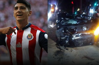 Terrible accidente del futbolista mexicano Alan Pulido en su auto de lujo
