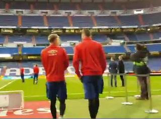 VIDEO: Así fue la llegada del Real Madrid y Girona al Santiago Bernabéu