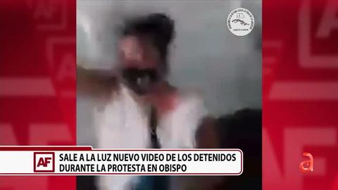 Revelan video desde dentro de un camión de la policía cubana mientras transportaba a los jóvenes que protestaron en la Calle Obispo