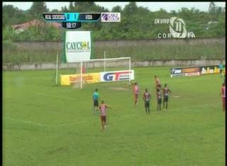 Real Sociedad empata el partido de penal ante el Vida