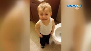 Japon balığına veda eden çocuk böyle ağladı