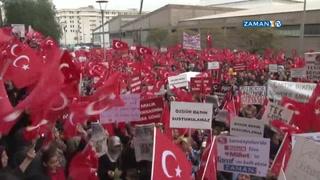 Binlerce İzmirli adliye bahçesini doldurdu