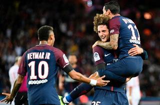 Rabiot anota el 2-1 a favor del PSG ante el Toulouse