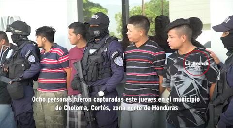 Capturan a ocho personas en Choloma, cuatro de ellas sospechosas de provocar daños en protestas