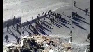 brutal pelea  entre soldados de los Ejércitos de China y la India