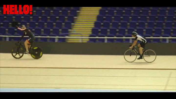 Sir Chris Hoy and Danny MacAskill test out the new velodrome in Glasgow Part 2