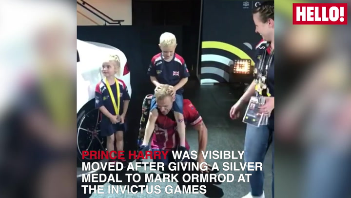 Mark Ormrod is reunited with Prince Harry at the Invictus Games
