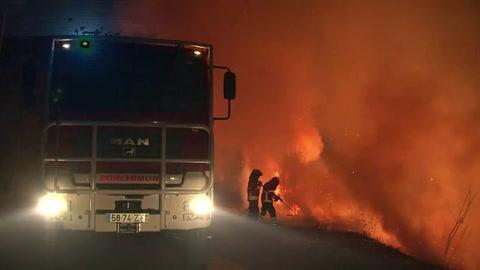 Casi 40 muertos en incendios en Portugal y España