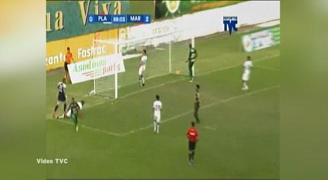 Gran gesto técnico de Lacayo para marcar el 3 a 0 ante Platense