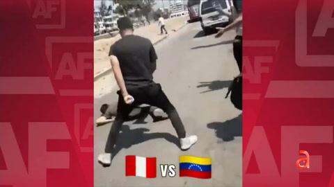 Se desata brutal violencia entre Venezolanos y Peruanos tras asesinato