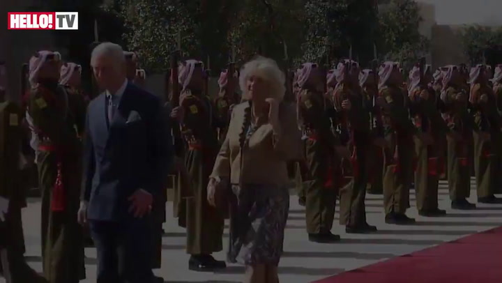Prince Charles and Camilla welcomed to Royal Palace in Jordan