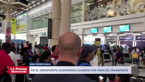 En el aeropuerto durmieron viajeros por paro de transporte