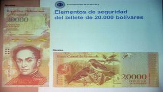 Venezuela lanza nuevos billetes contra la inflación