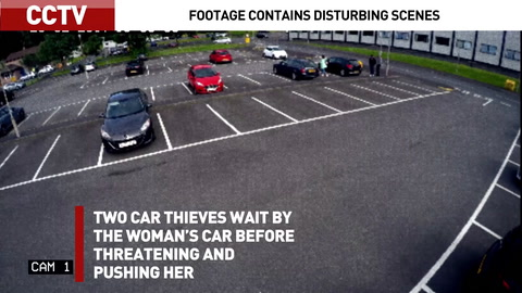 CCTV and bodycam footage show real-life car-jacking