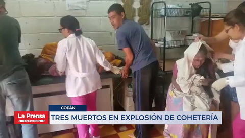 TRES MUERTOS EN EXPLOSIÓN DE COHETERÍA
