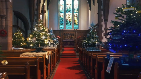 East Belfast church St Columba's light up with Christmas tree festival
