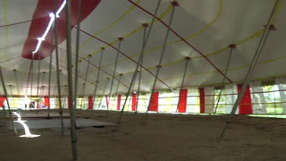 Circus tent gives final performance