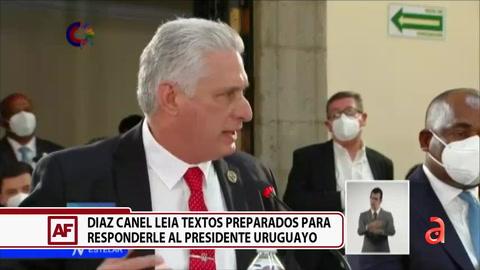 Análisis: Díaz-Canel leyó textos preparados para responder al presidente de Uruguay