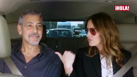 El karaoke improvisado de George Clooney y Julia Roberts con Gwen Stefani